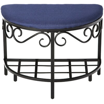Barhorst Shoe Bench Color: Navy Blue