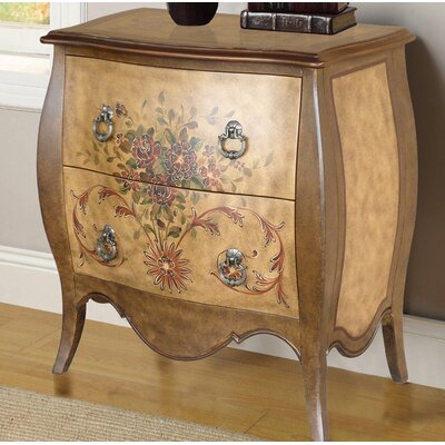 Cephas Hand Painted 2 Drawer Accent Chest