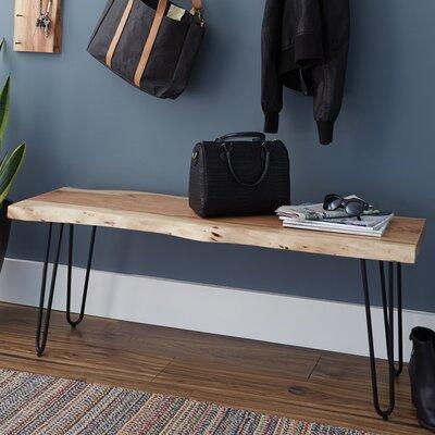 "Tindle Wood Bench Size: 48"" W"