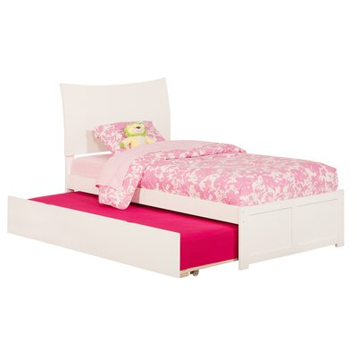 Greyson Sleigh Bed with Trundle Size: Full, Color: White