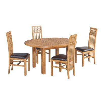 Uriah 5 Piece Extendable Dining Set Color: Light Dark Oak