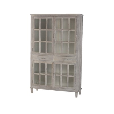 Belmont 2 Drawer 4 Door Accent Cabinet Color: White Distress