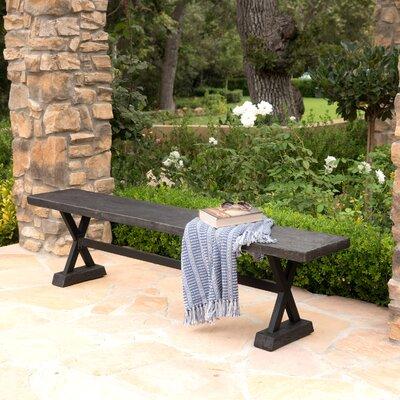 Cervantes Outdoor Bench Color: Gray