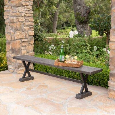 Cervantes Outdoor Bench Color: Brown