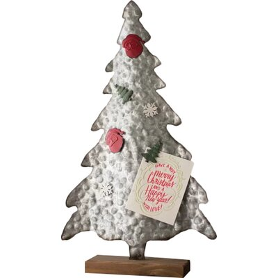 """Metal 24"""" Artificial Christmas Tree with 6 Magnets"""