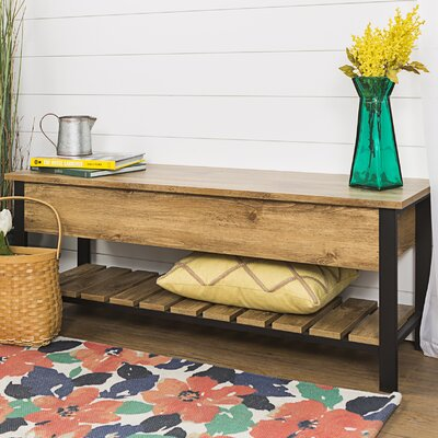 Savon Open-Top Wood Storage Bench Color: Barnwood
