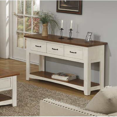 Gillett Console Table Color: Antique White and Honey Tobacco