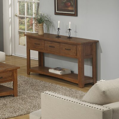 Gillett Console Table Color: Honey Tobacco