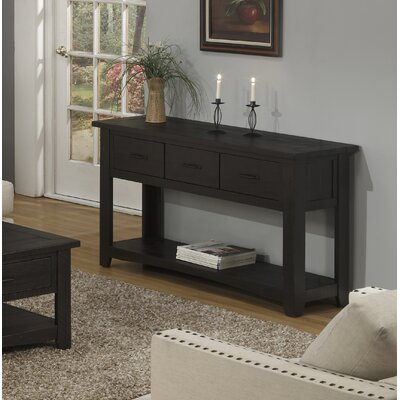 Gillett Console Table Color: Antique Black