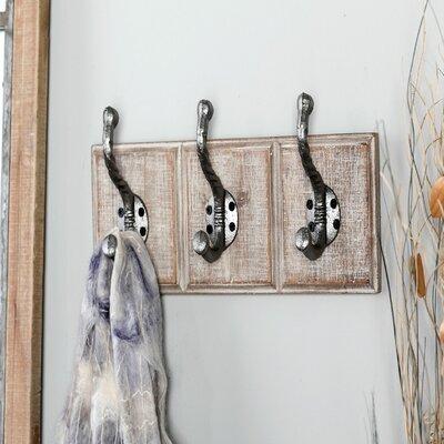 Chauncy Traditional Rectangular Wall Mounted Coat Rack