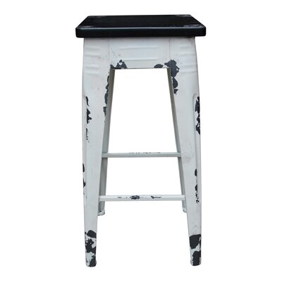 "Millie 29.5"" Bar Stool Frame Finish: White"