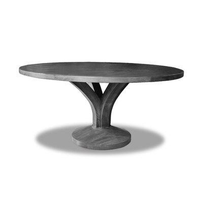 "Paschke Dining Table Color: Cement, Size: 30"" H x 60"" W x 60"" D"
