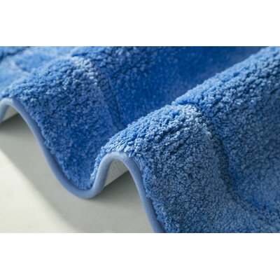 "Raelene Bath Rug Color: Blue, Size: 17"" W x 24"" L"