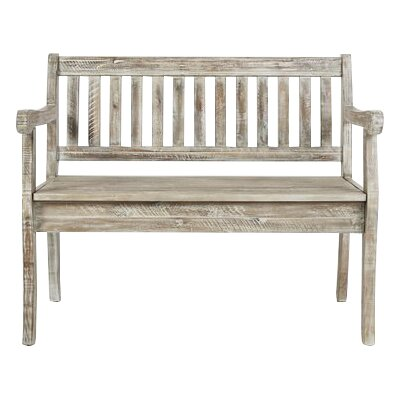 Papa Wood Storage Bench Color: Washed Gray