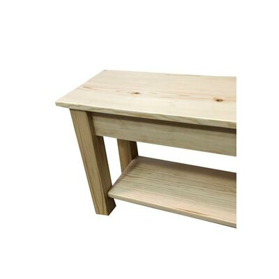 "Hanneman Wood Bench with Shelf Size: 17"" H x 24"" W x 12"" D, Color: Natural"