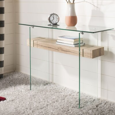 Hinnant Rectangular Modern Glass Console Table