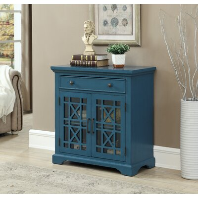 Fridley 1 Drawer Accent Cabinet Color: Blue