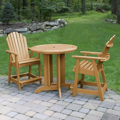 Deerpark 3 Piece Bar Height Dining Set Finish: Toffee
