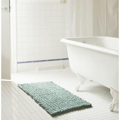 """Diondre High Pile Chenille Bath Rug Size: 24"""" W x 17"""" L, Color: Blue"""