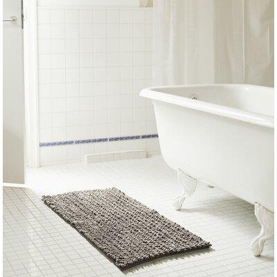 "Diondre High Pile Chenille Bath Rug Size: 32"" W x 20"" L, Color: Gray"