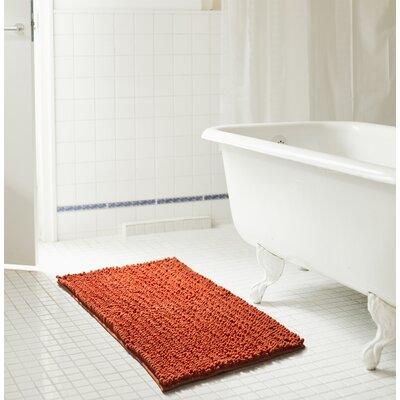 "Diondre High Pile Chenille Bath Rug Size: 24"" W x 17"" L, Color: Terracotta"