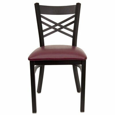 Taylor Side Chair Fabric: Burgundy