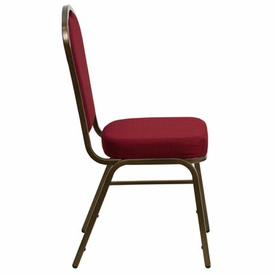 Taylor Crown Banquet Chair Seat Finish: Green, Frame Finish: Gold Vein