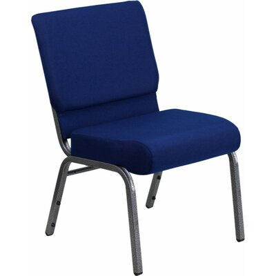 Taylor Stacking Church Chair Seat Finish: Navy Blue, Finish: Silver Vein