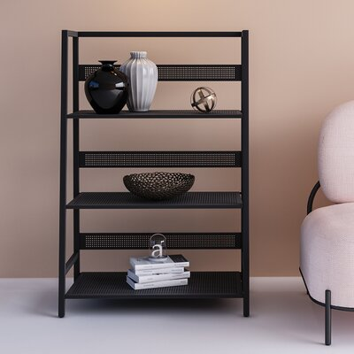 Yessenia Etagere Bookcase Color: Black