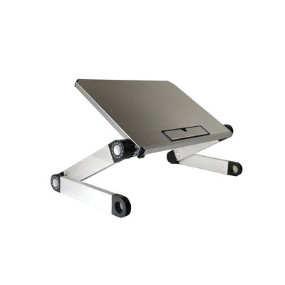 """Avery 12"""" H x 14"""" W Laptop Stand Finish: Silver"""
