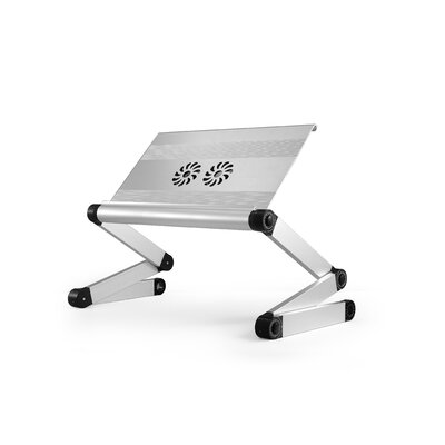 """Avery 24"""" H x 18"""" Adjustable Laptop Stand Finish: Silver"""