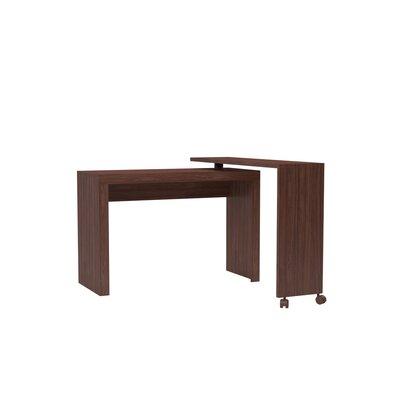 Althea L-Shaped Writing Desk Color: Nut Brown