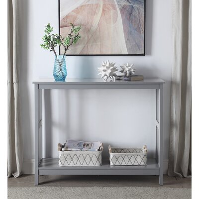 Cade Console Table Color: Gray