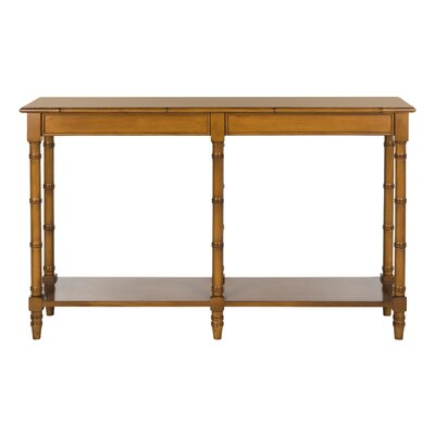 Jordon Console Table Color: Brown
