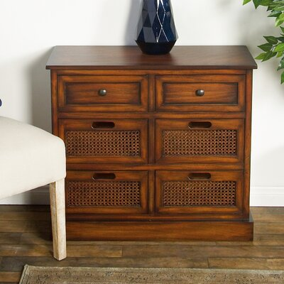 Harrisburg Rustic Rectangular Storage 6 Drawer Accent Chest