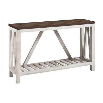 Brandy Entry Console Table Color: White Oak