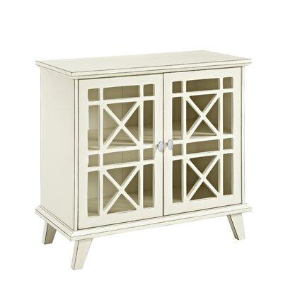 Matheus Fretwork 2 Door Accent Cabinet Color: Antique White