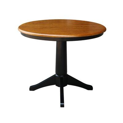 Cochrane Extension Pedestal Dining Table Color: Black / Cherry