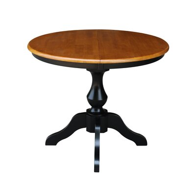 ClipperCover Extendable Dining Table Color: Black / Cherry