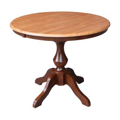 ClipperCover Extendable Dining Table Color: Cinnamon/Espresso