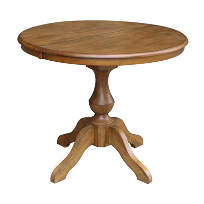 ClipperCover Extendable Dining Table Color: Pecan