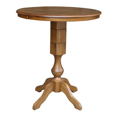 Clyde Pub Table Color: Pecan