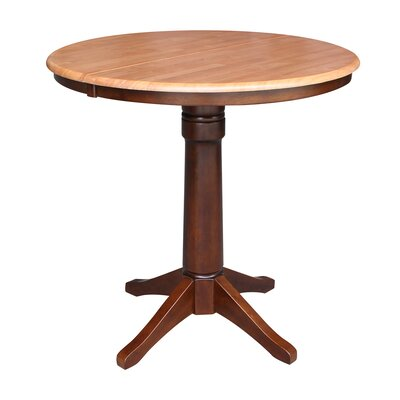 Codman Pub Table Color: Cinnamon/Espresso