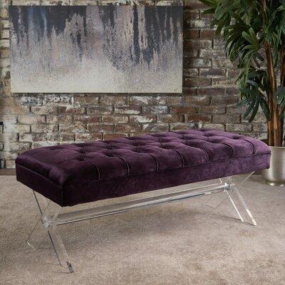 Calixta Upholstered Bench Upholstery: Blackberry