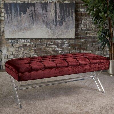 Calixta Upholstered Bench Upholstery: Garnet