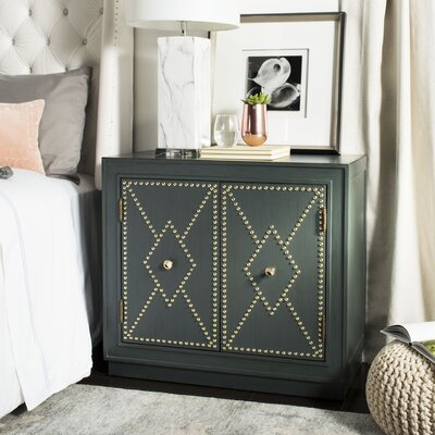 Marcel 2 Door Accent Chest Color: Steel Teal