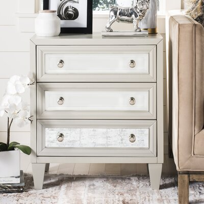 Leandro 3 Drawer Accent Chest Color: Gray