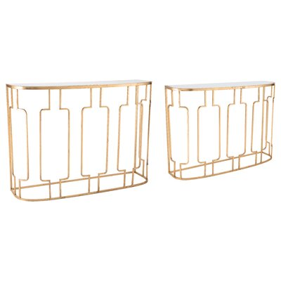 Yiwei 2-Piece Console Table Set