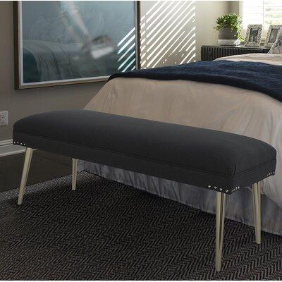 Sunni Wood Bench Upholstery: Jet black