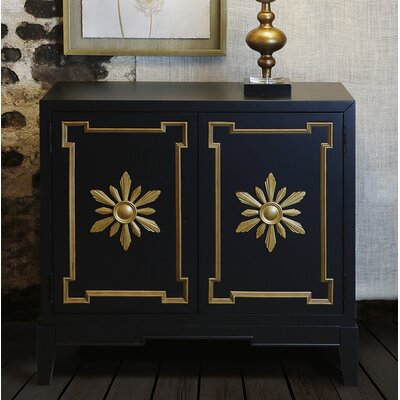 Marla 2 Door Accent Cabinet Color: Black